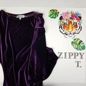 nwot Teri Jon sportswear velour mini dress